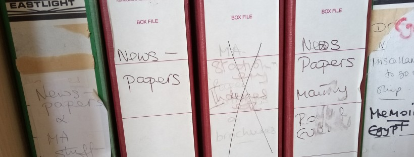 Box Files of Newspapers